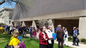 synod staff outside church