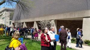 synod staff outside church